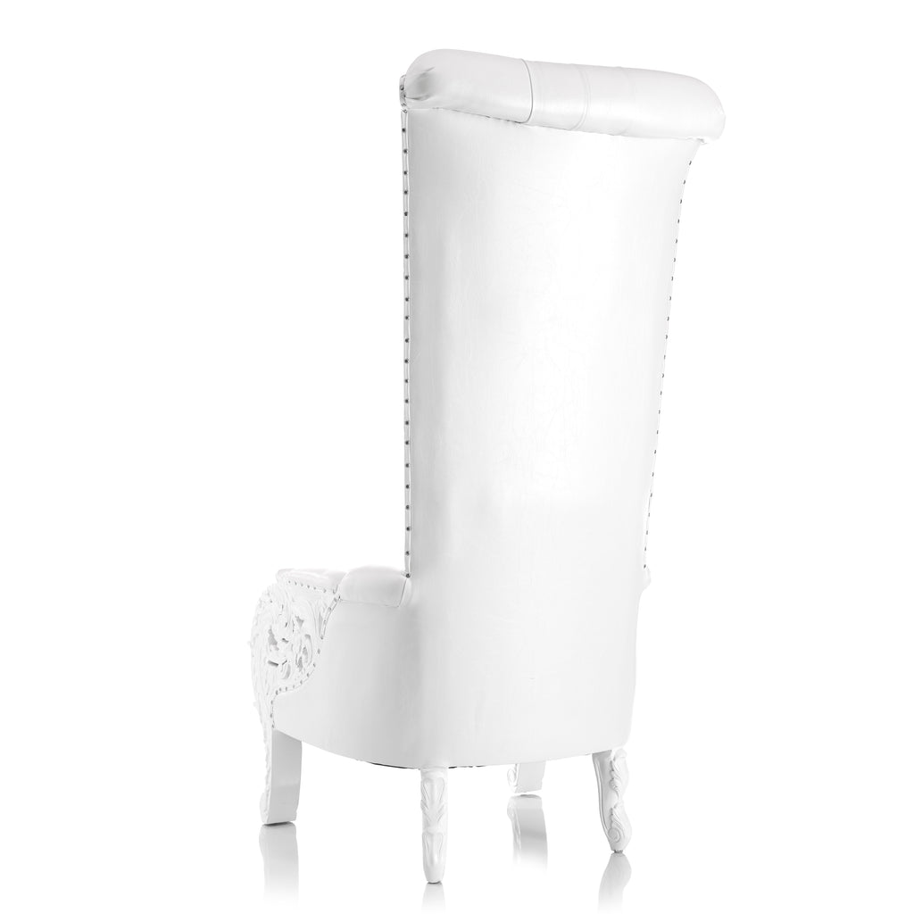 """Queen of Sheba"" Throne Chair - White / White"