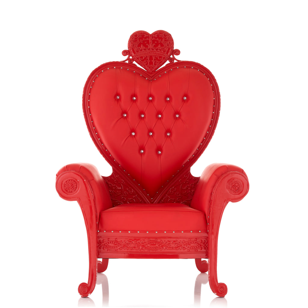 """Royal Valentine"" Party Throne Chair - Red / Red"