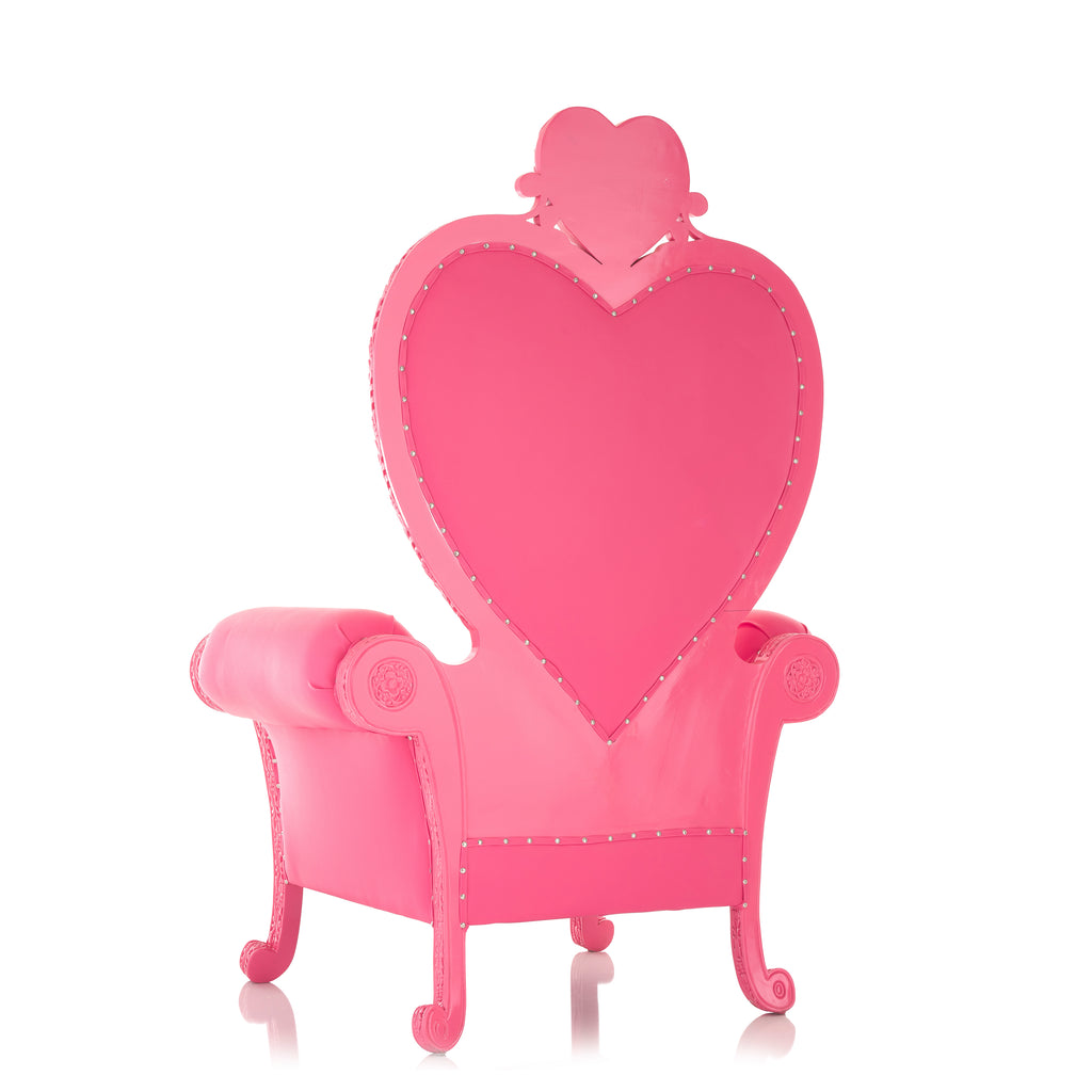 """Royal Valentine"" Party Throne Chair - Pink / Pink"