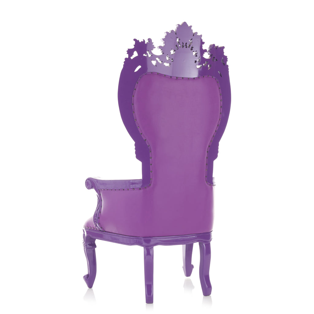 """Giovanni"" Party Throne Chair - Purple / Purple"