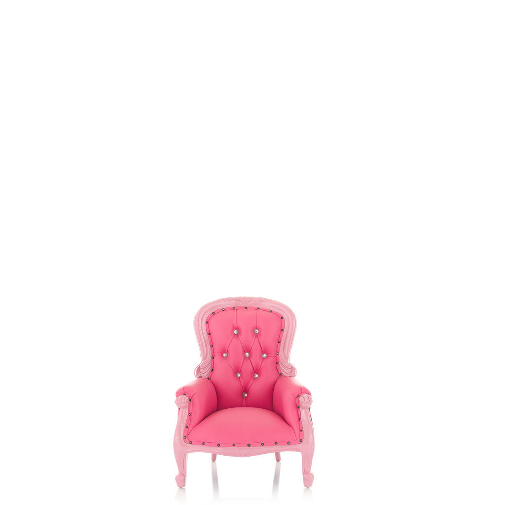 """Cinderella 26"" Mini Princess Throne Chair - Pink / Pink"
