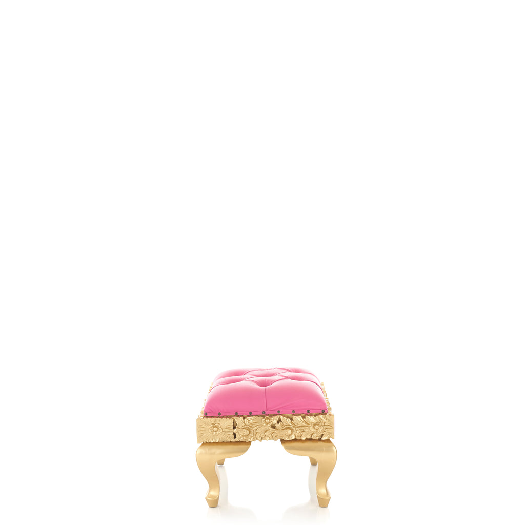 """Claudia"" Royal Mini Bench - Pink / Gold"