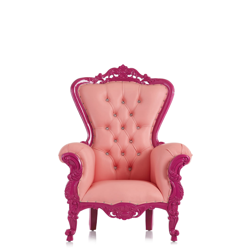 """Tiffany"" Mid Size Throne Chair - Pink / Purple"