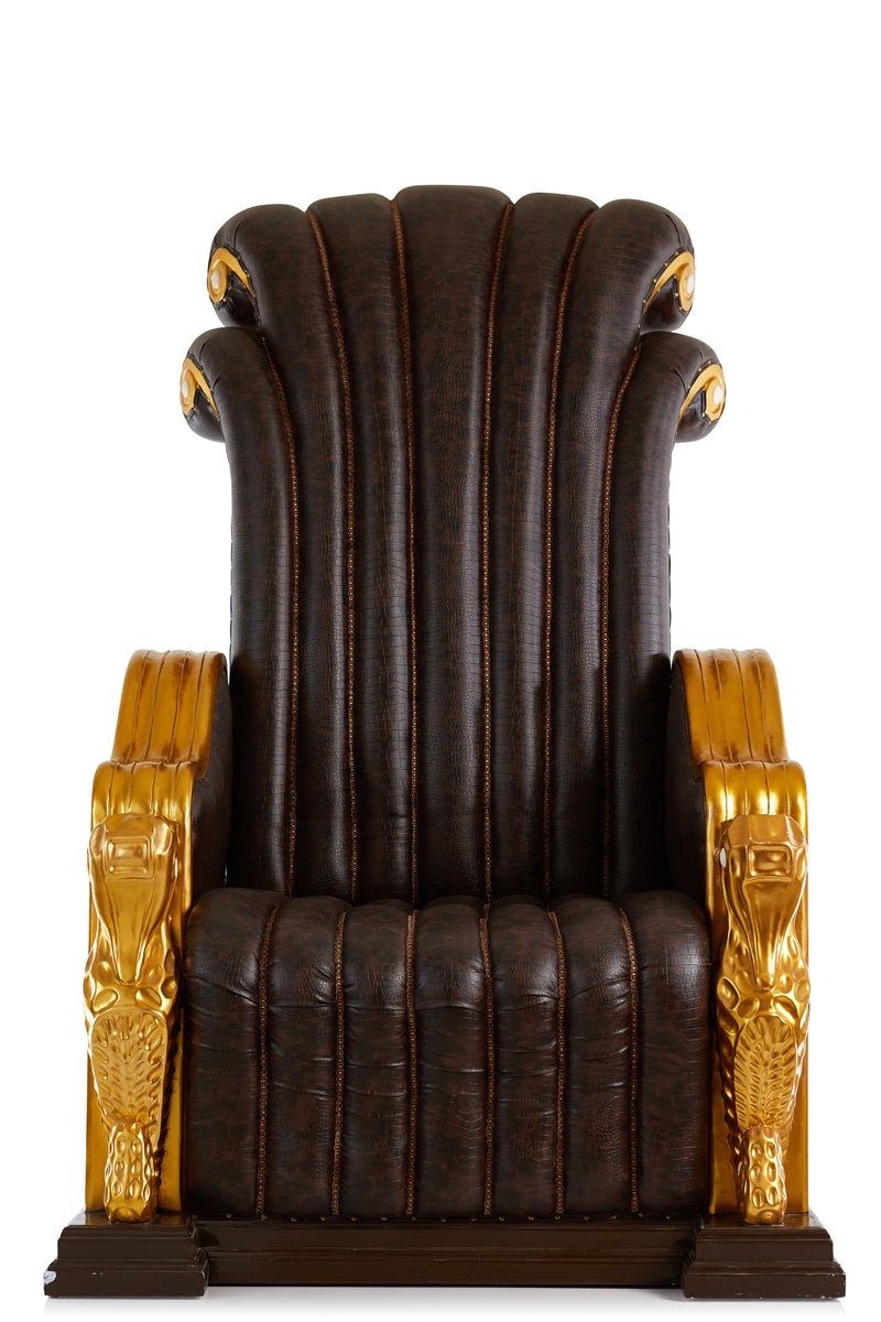 Quot King Neptune Quot Colossal Throne Chair Brown Gold
