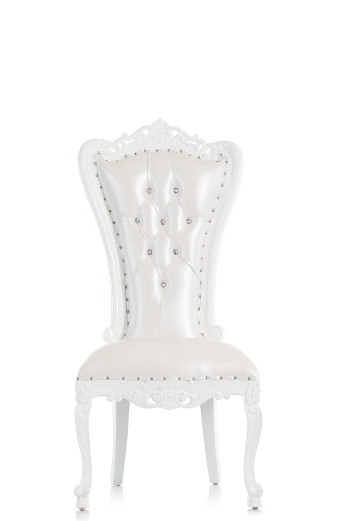 """Valentina"" Throne Chair - PAIR OF 2 - White / White"