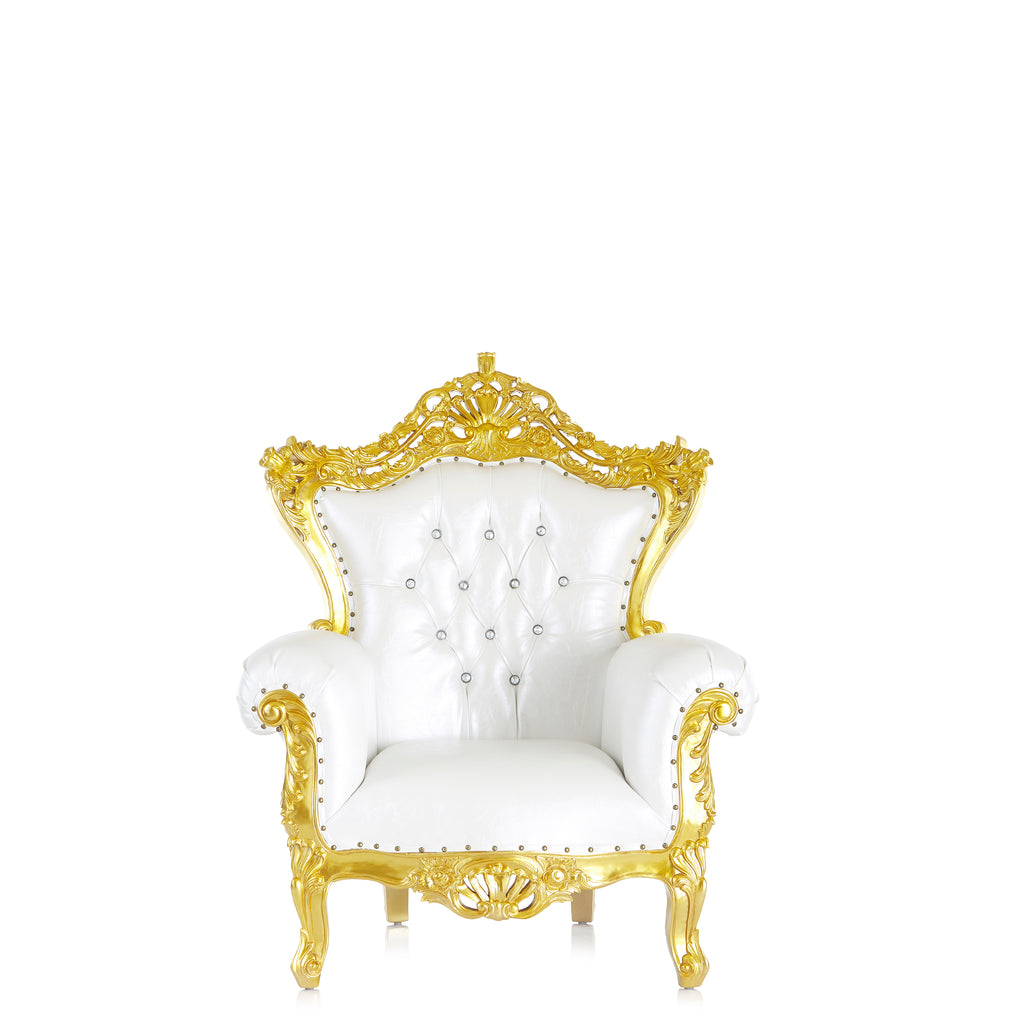 """Queen Lilith"" Royal Sofa Chair - White / Gold"
