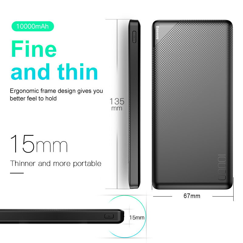 10,000mAh Dual USB Power Bank