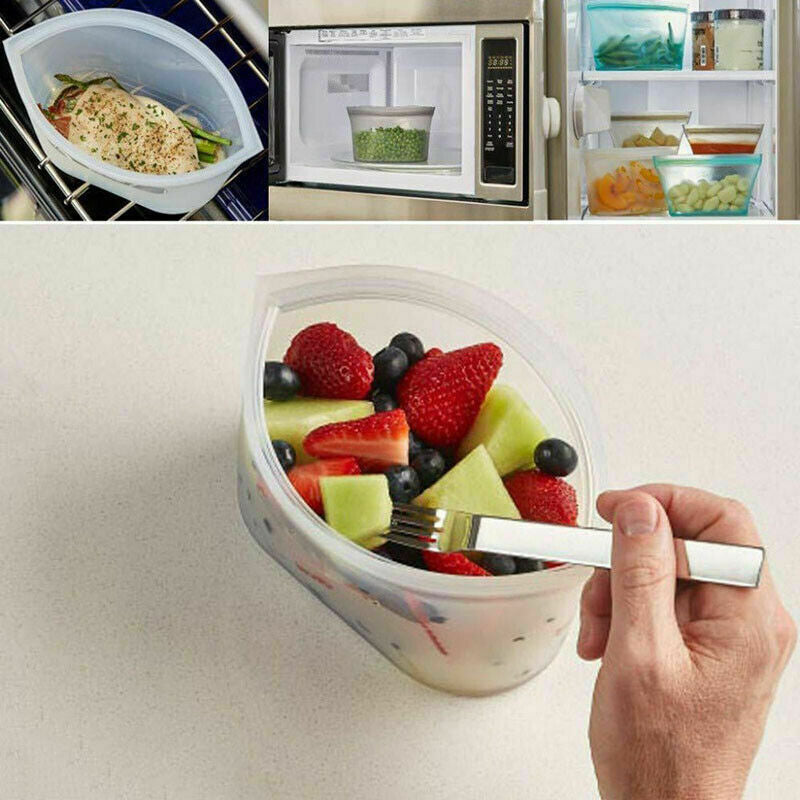 (60% off) Zip Lock Leakproof Containers - Completely Plastic Free