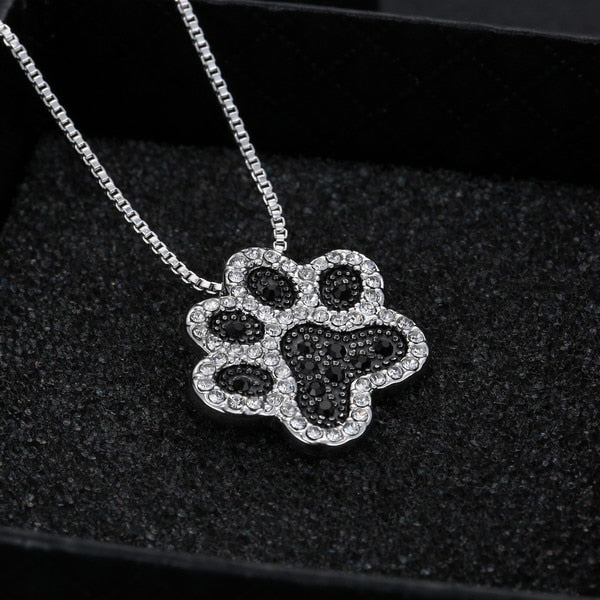 Dog Paw Pendant Necklace
