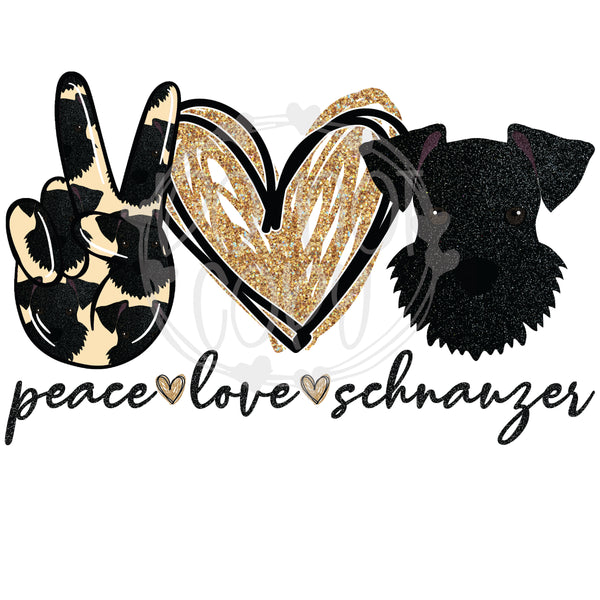 Peace Love Schnauzer - T2 Blanks 4 You