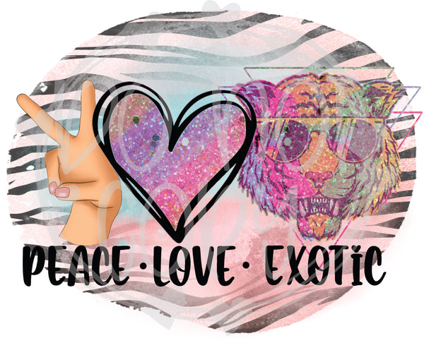 Peace Love Exotic - T2 Blanks 4 You