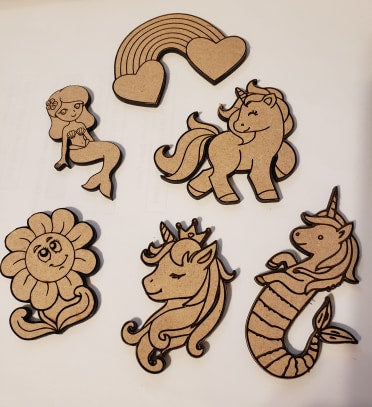 Wood Coloring Set - Unicorn - T2 Blanks 4 You