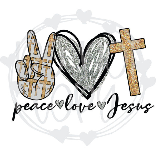 Peace Love Jesus - T2 Blanks 4 You
