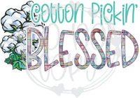 Cotton Pickin' Blessed - T2 Blanks 4 You