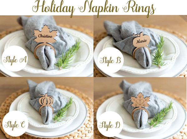 Holiday Napkin Rings - Fall