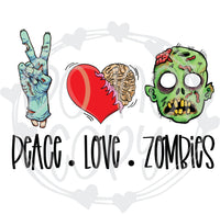 Peace Love Zombies - T2 Blanks 4 You