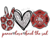 Peace Love Back The Red - T2 Blanks 4 You