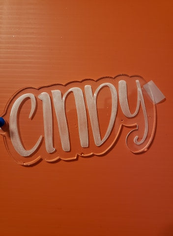 Name Etched Keychain - T2 Blanks 4 You