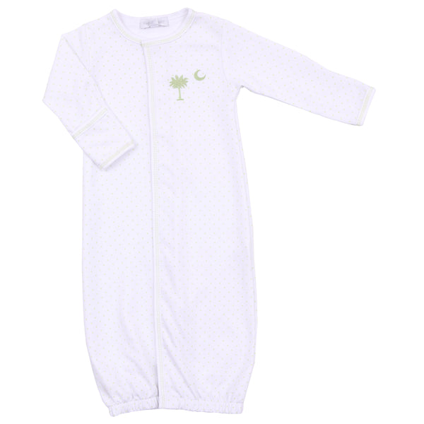 Essentials Celery Palmetto Baby Embroidered Converter Gown