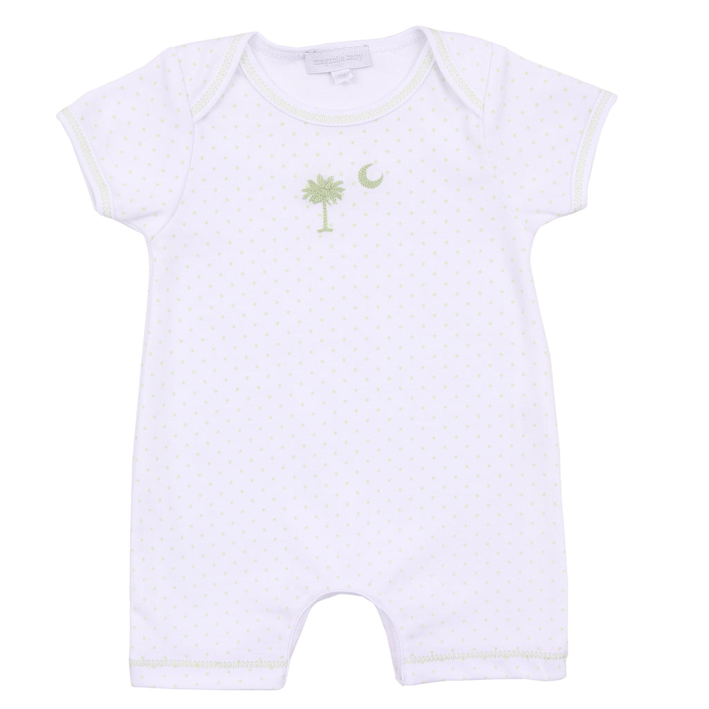 Essentials Celery Palmetto Baby Embroidered Short Playsuit