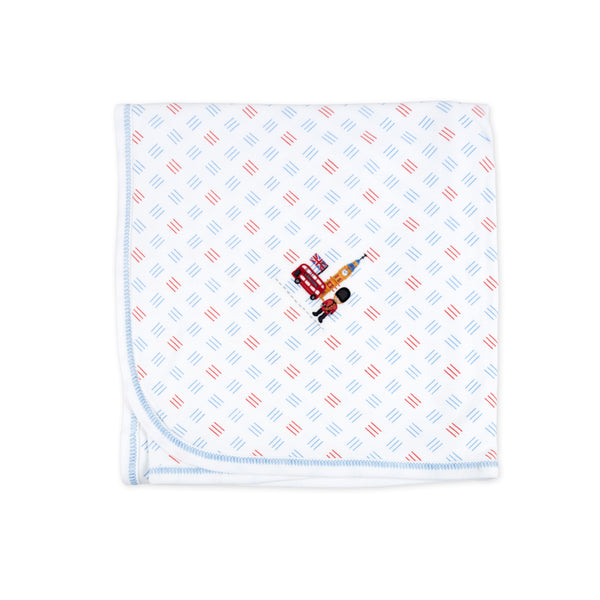 Essentials London Calling Embroidered Receiving Blanket