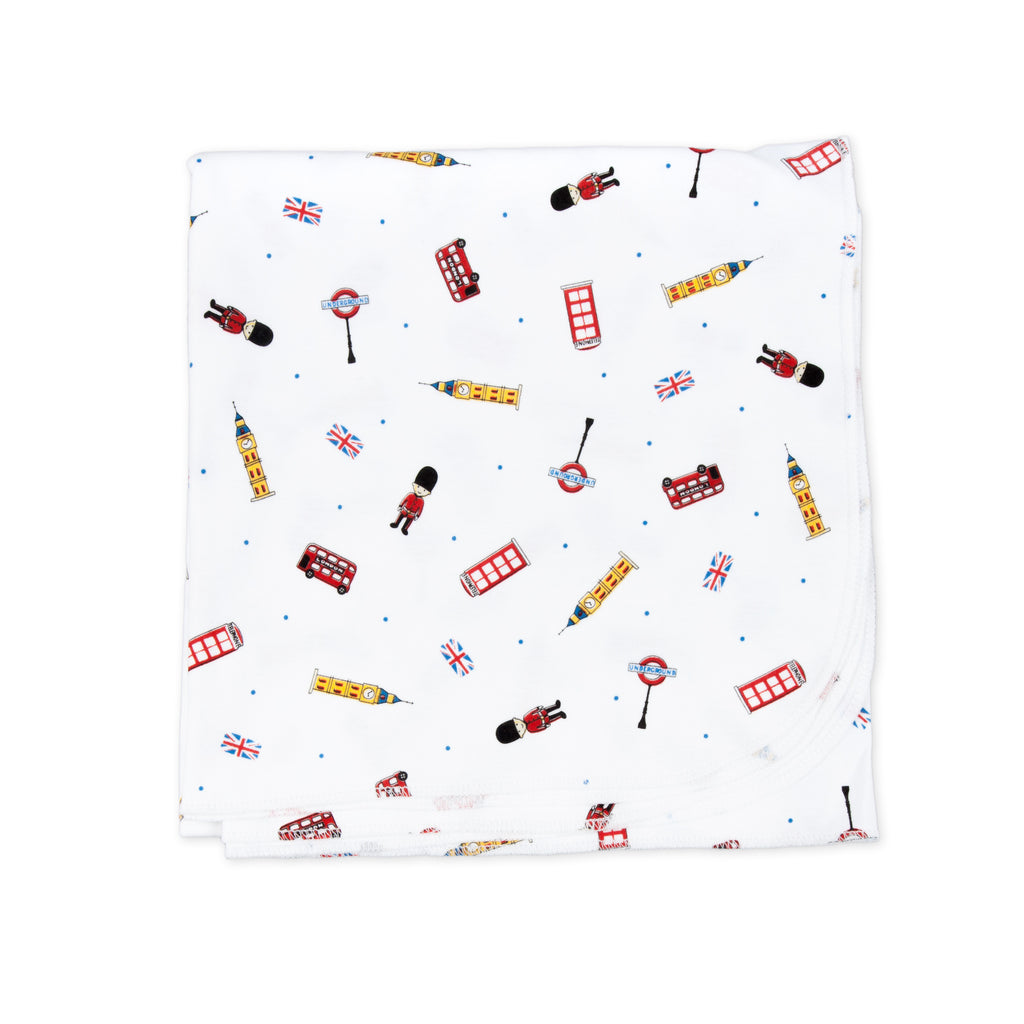 Essentials London Calling Printed Swaddle Blanket