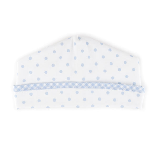 Essentials Blue Gingham Dots Hat