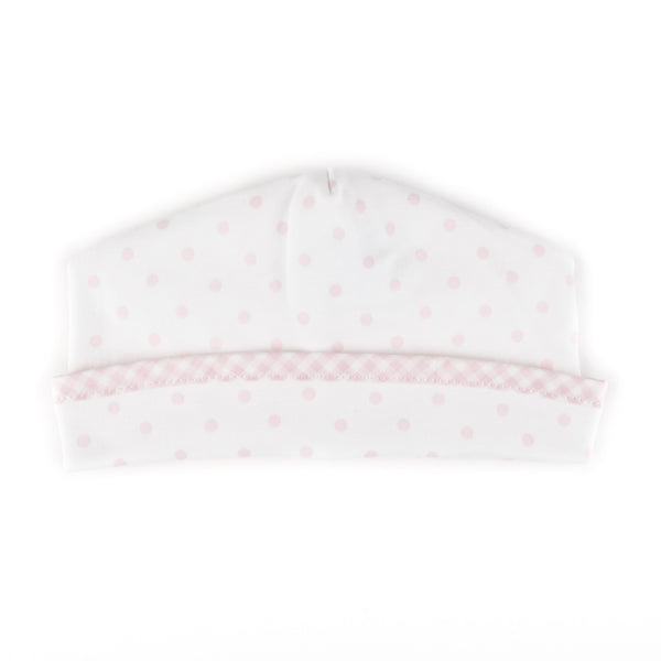 Essentials Pink Gingham Dots Hat