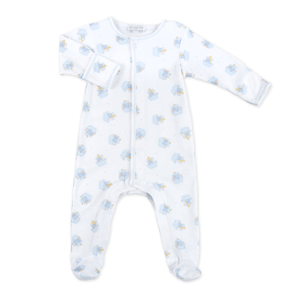 Essentials Blue Noah's Friends Printed Footie