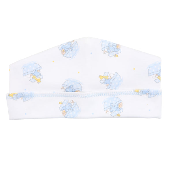 Essentials Blue Noah's Friends Printed Hat