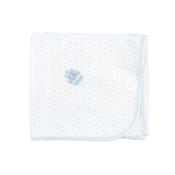 Essentials Blue Noah's Friends Embroidered Blanket