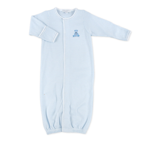 Essentials Blue Baby's Teddy Embroidered Converter