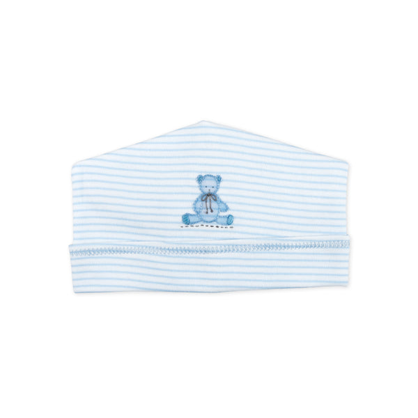 Essentials Blue Baby's Teddy Embroidered Hat