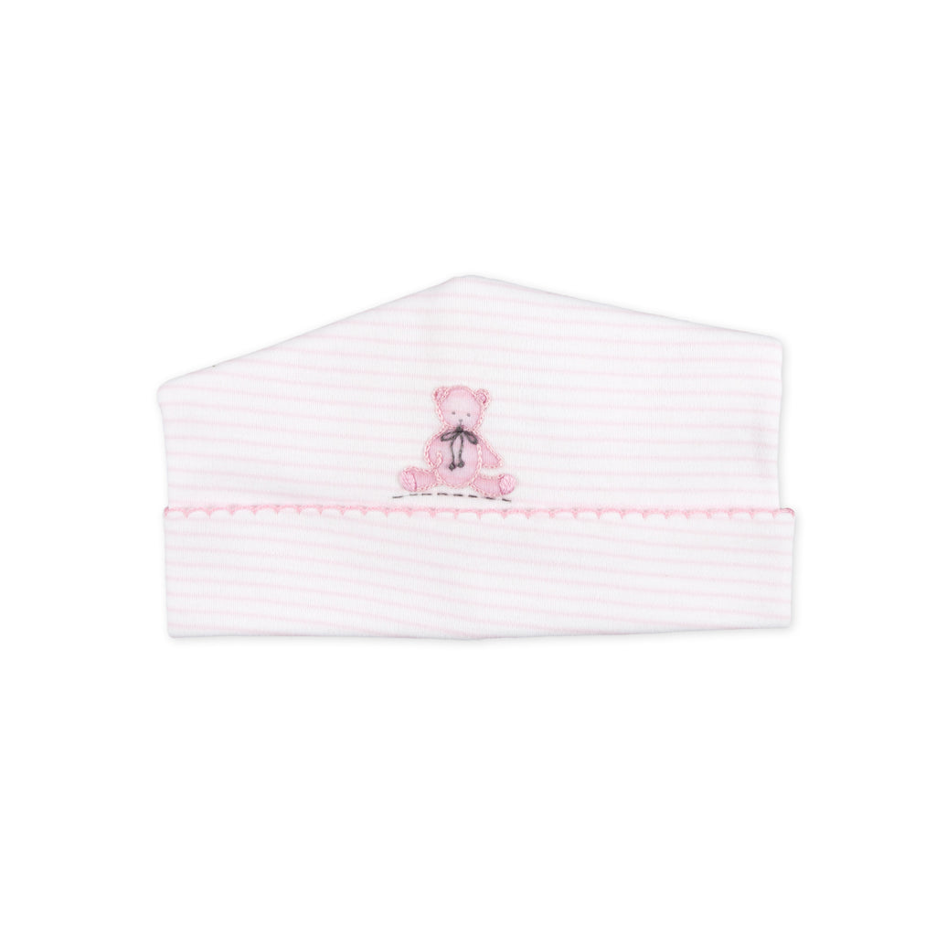 Essentials Pink Baby's Teddy Embroidered Hat