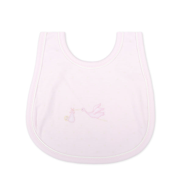 Essentials Pink Worth the Wait Embroidered Bib
