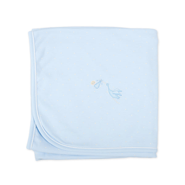 Essentials Blue Worth the Wait Embroidered Receiving Blanket