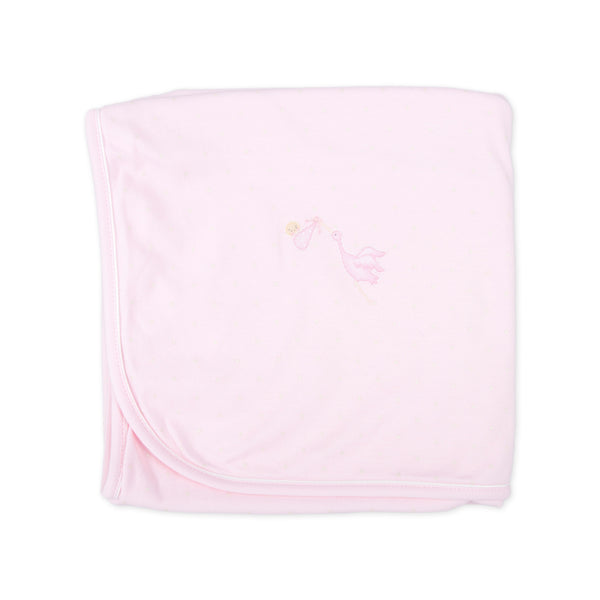 Essentials Pink Worth the Wait Embroidered Receiving Blanket