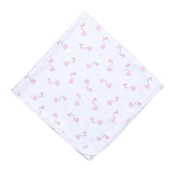 Essentials Pink Worth the Wait Printed Swaddle Blanket