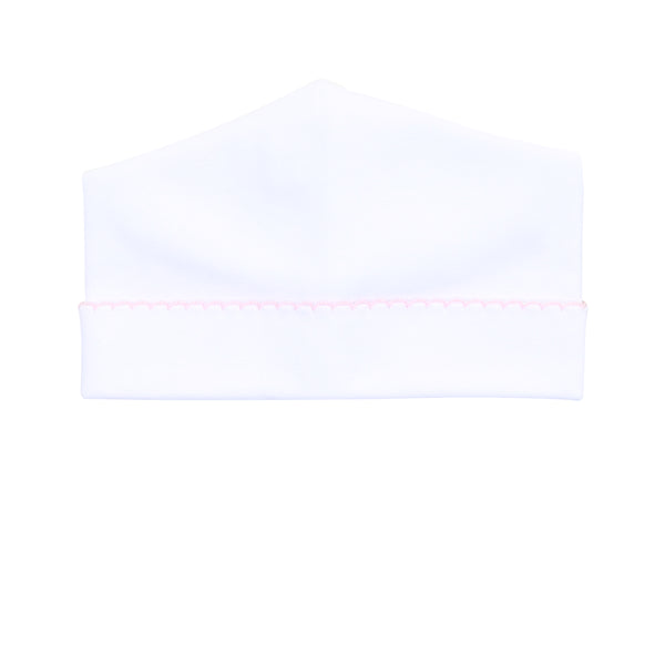 Essentials White w/Pink Hat