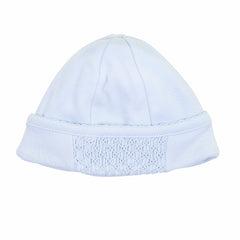 Essentials Solid Blue Smocked Hat