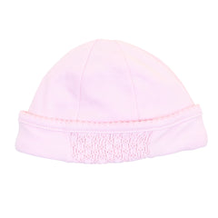 Essentials Solid Pink Smocked Hat