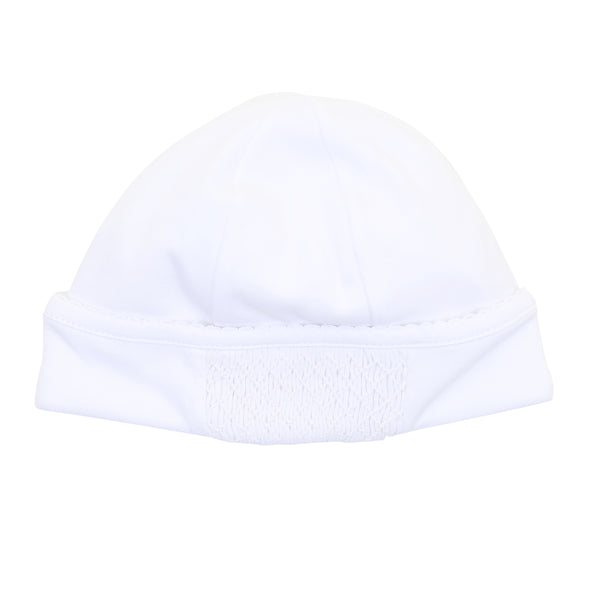Essentials White Smocked Hat