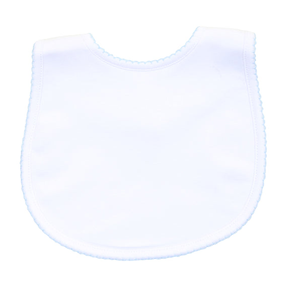 Essentials White w/Blue Bib