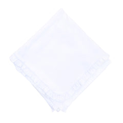 Essentials White Ruffle Blanket