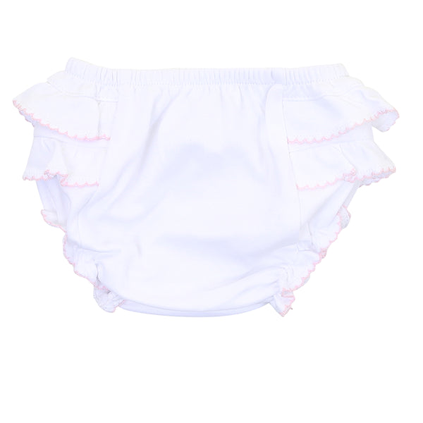 Essentials White w/Pink Diaper Cover