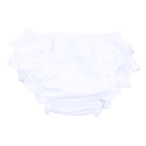 Essentials White Diaper Cover