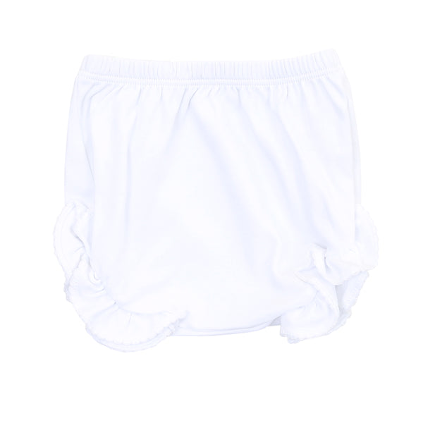 Essentials White Monogram Diaper Cover