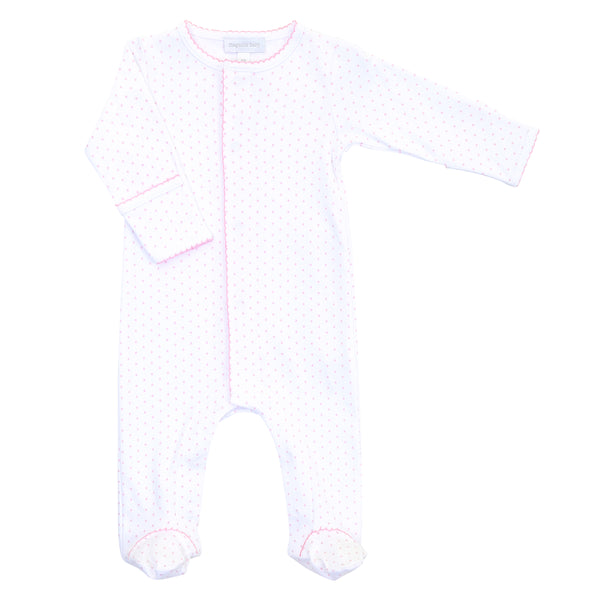 Essentials Pink Mini Dot Footie