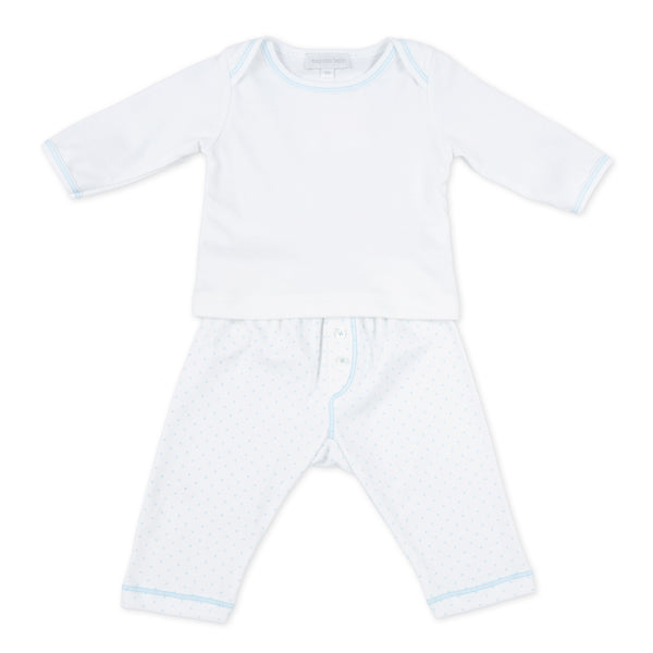 Essentials Blue Mini Dot 2pc Pant Set