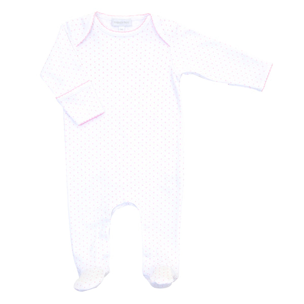Essentials Pink Mini Dot Lap Footie